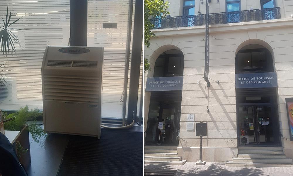 Location de climatiseurs pour un office de tourisme