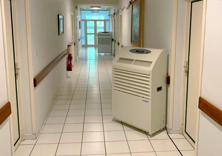Location de climatisation dans une clinique