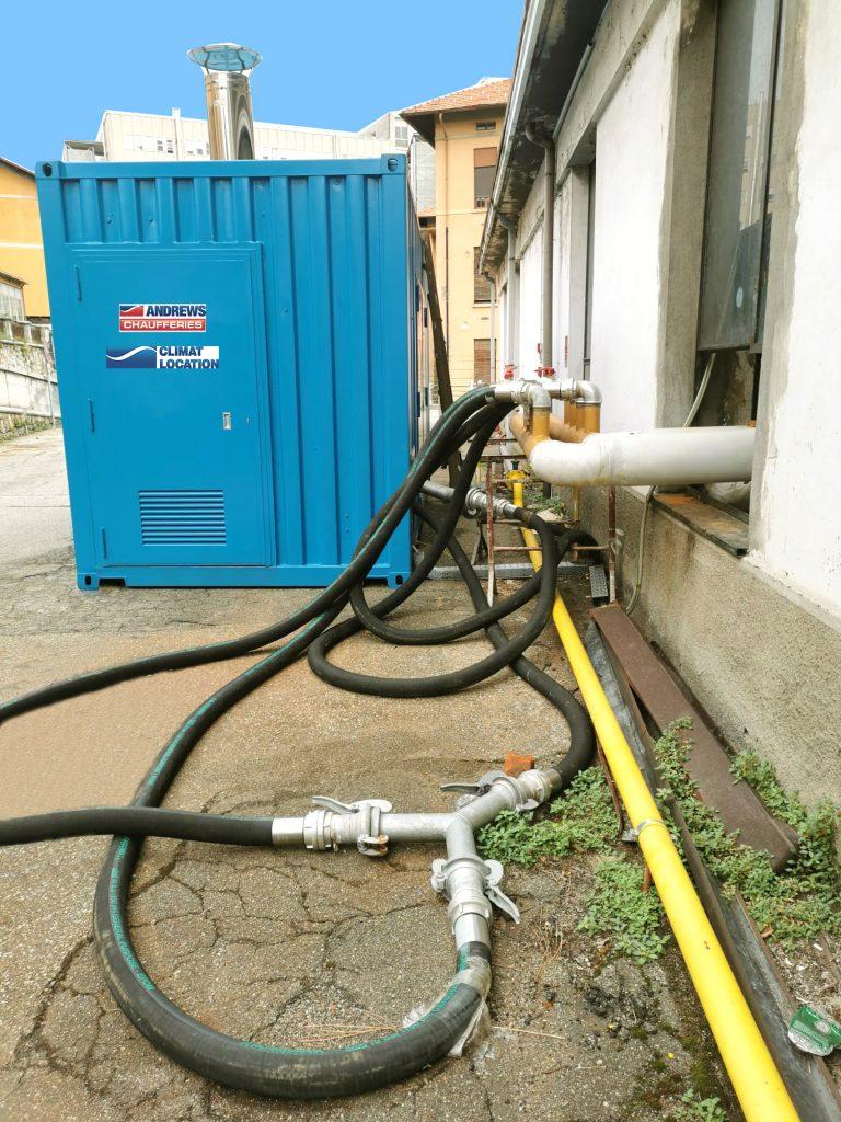 Climat Location assiste un hôpital avec la location d'une chaudière gaz